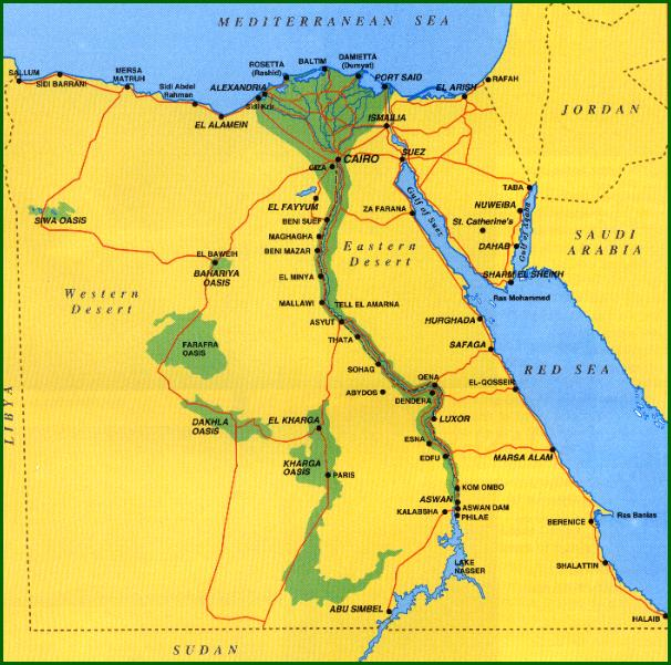 Egypt - Map of just egypt